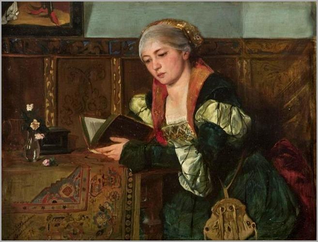 Backer, Harriet (1845-1932) Lesende dame