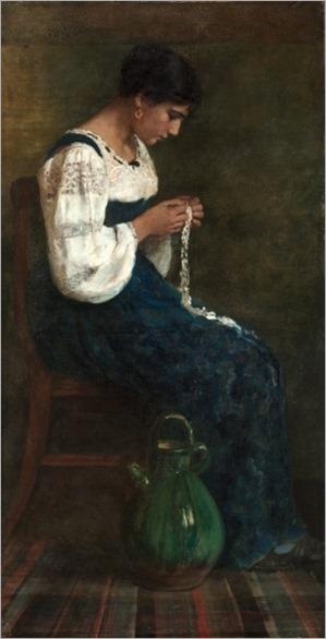 Capri lace maker, 1884-George B. Butler (American, 1838-1907)