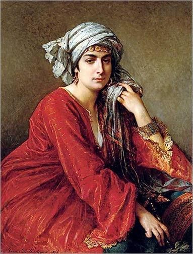 CESARE FELIX GEORGES DELL'ACQUA (AUSTRIAN, 1821-1904) FEMME ORIENTALE