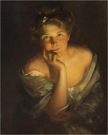 Charles Frederick Naegele (1851-1944) Portrait of Hilda Clark
