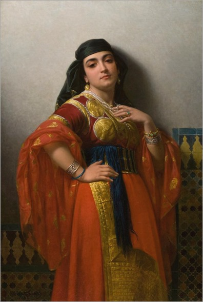 Charles Émile Lecomte-Vernet (french) - An Oriental Beauty, 1869