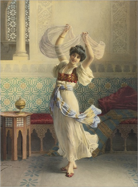 Francesco Ballesio (1860-1923) The dance of the veils