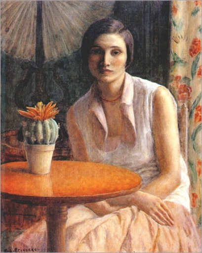 frederick-carl-frieseke-portrait-of-a-woman-with-cactus-1930