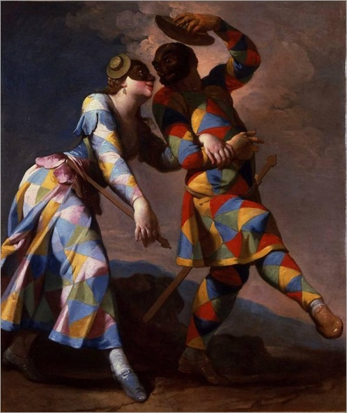 Giovanni Domenico Ferretti- Harlequin and his Lady