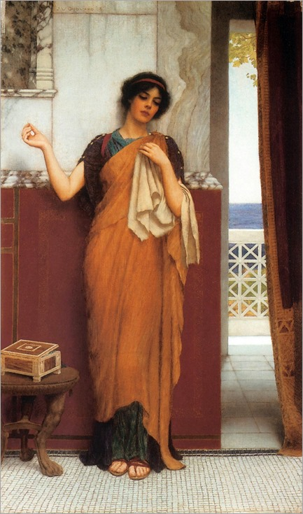 idle thoughts-John William Godward -1898