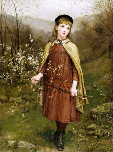 Innocence, 1882 -Jennie Augusta Brownscombe (1850 – 1936, American)