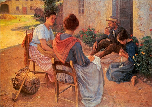 Italian Family -1900- Elin Danielson-Gambogi (finnish painter)