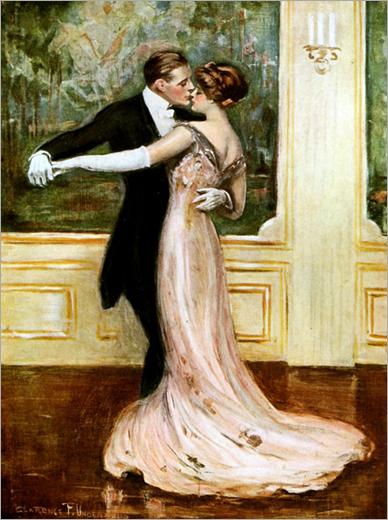 Last Waltz (1912) - Clarence F. Underwood (american, 1871-1929) - Viennese postcard