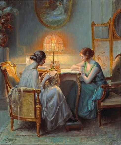 Le boudoir. Delphin Enjolras (French, 1857-1945). Oil on canvas