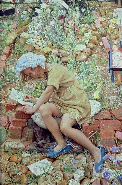 mark-lancelot-symons--molly-in-the-garden