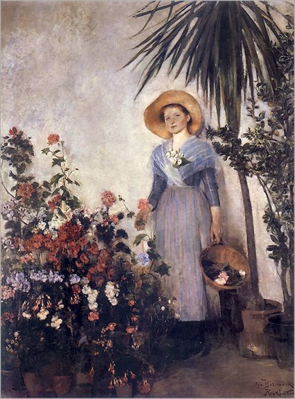OLGA BOZNANSKA (polish painter) W_oranzerii