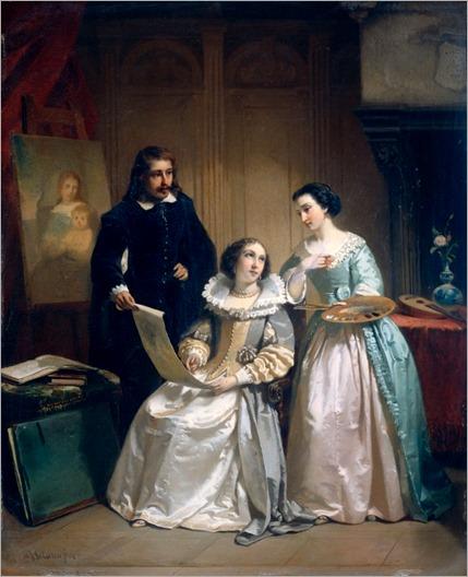 Painters in Atelier (1854). Hendrik Jacobus Scholten (Netherlands, 1824-1907)