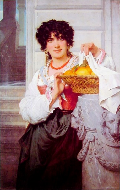 PierreAugusteCot-Pisan Girl with Basket of Oranges and Lemons 1871