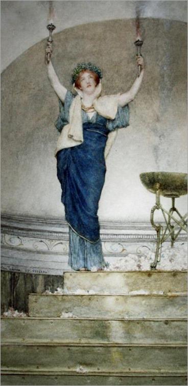 Sir Lawrence Alma-Tadema (1836-1912) - A Priestess of Hymen