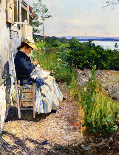 Sunshine, Kalvoya - Eilif Peterssen (norwegian painter)