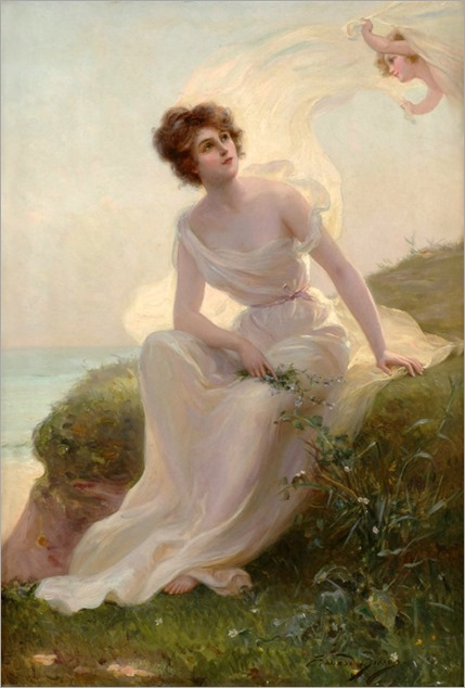 The Caress of a Summer Breeze by Edouard Bisson (french, 1856-1908)