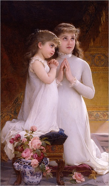 two girls praying_Emile-Munier