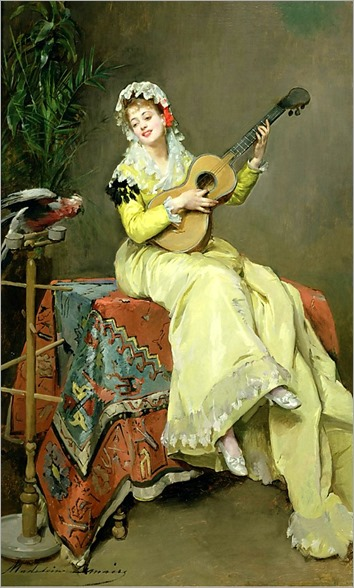 Un Moment Musical. Madeleine Jeanne Lemaire (French, 1845-1928)