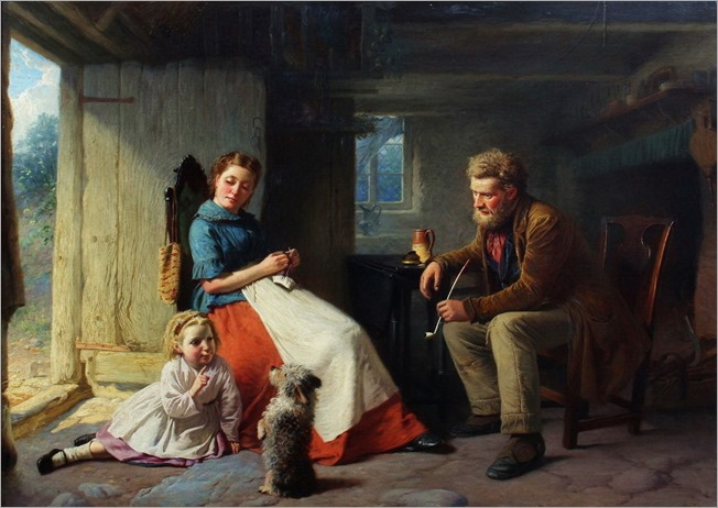William Henry Midwood (British, active 1867-1871) - A new trick