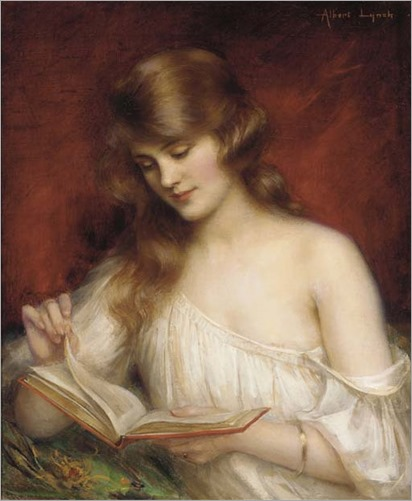 A Quiet Read - Albert Lynch