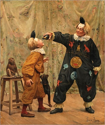 At the Circus - Paul-Charles Chocarne-Mureau (french painter)