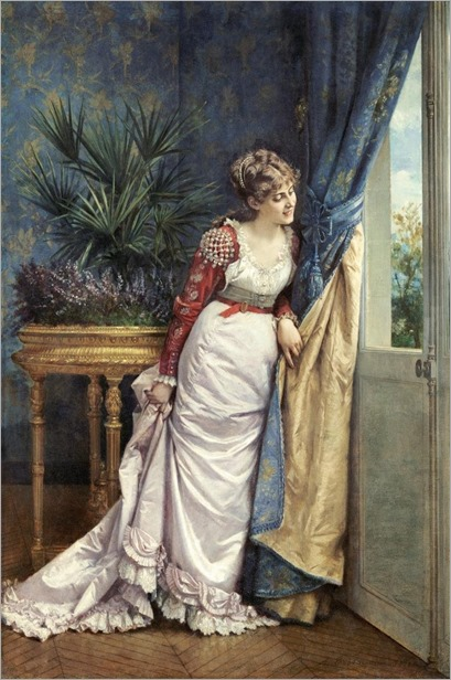 Awaiting the Visitor by Auguste Toulmouche, 1878