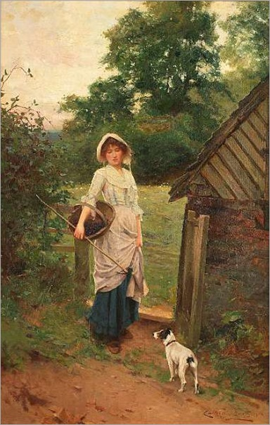 blackberry picking_Carlton Alfred Smith, RI, RBA, ROI (British 1853-1946)