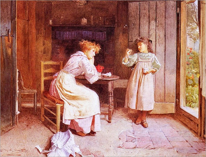 Carlton Alfred Smith (English, 1853-1946)- Blowing Bubbles 1897
