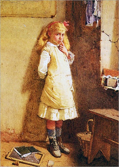 Carlton Alfred Smith (English, 1853-1946)- In the Corner 1883