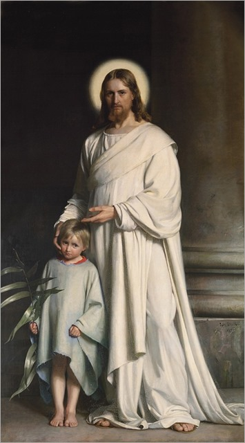 Christ Blessing the Little Child - Carl Heinrich Bloch