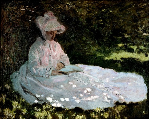 Claude-Monet_A_Woman_Reading_1872