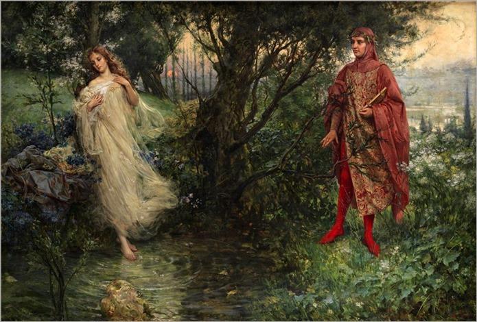 Dante e Beatrice_Salvatore Postiglione (Italian, 1861-1906)