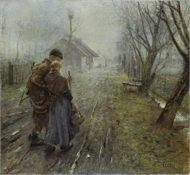 Difficult Journey - 1890 - Fritz von Uhde (german painter)