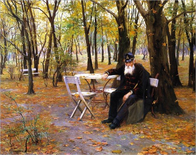 Falling Leaves -1895- Philip Alexius de Laszlo (hungarian painter)