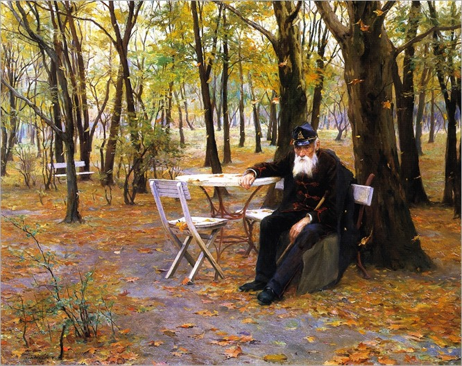 Falling Leaves -1895- Philip Alexius de Laszlo (hungarian painter)