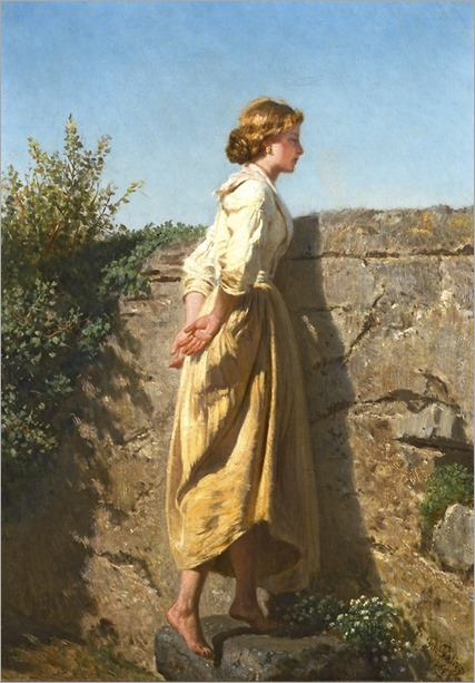 Filippo Palizzi (Italian, 1818-99) - Over The Wall