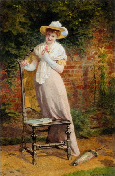 in_the_garden-Carlton Alfred Smith (British, 1853 - 1946)