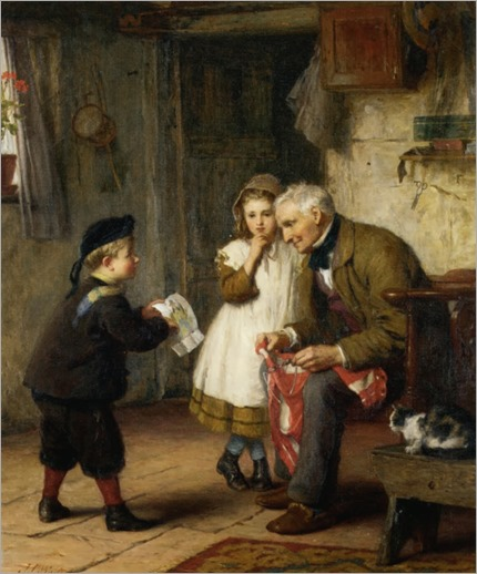 James Clarke Waite (1832-1921)- Surprise for Grandfather 1873