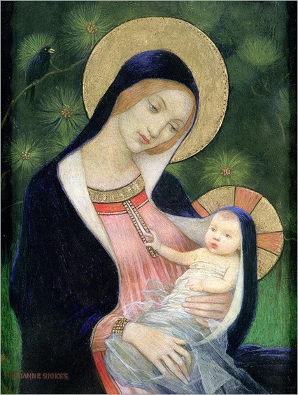 Madonna-Of-The-Fir-Tree-by-Marianne-Stokes