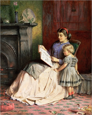 Mother and Daughter - George Goodwin Kilburne (English, 1839-1924)