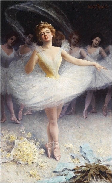 Oswald Richter (German, 1861-1937) Ballerinas After the Performance