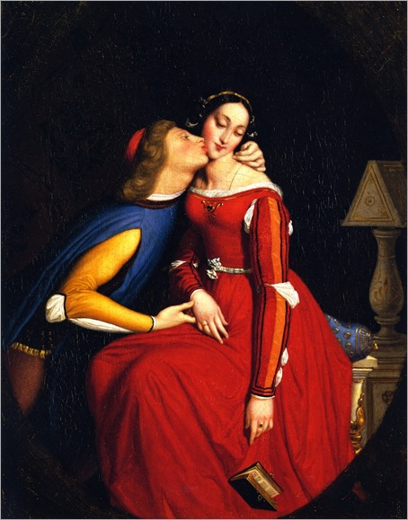 Paolo and Francesca - Jean-Auguste-Dominique Ingres (french painter)- circa 1855-1860