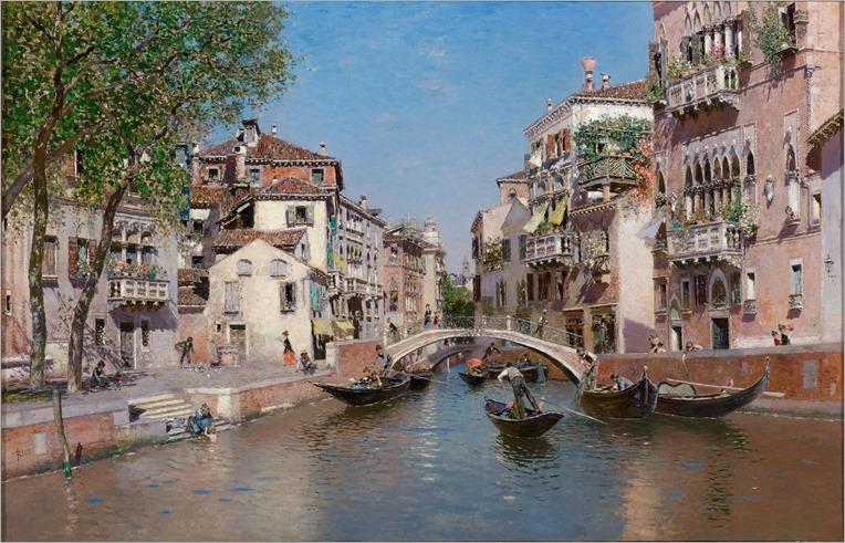 Rio San Trovaso, Venice - 1903 - Martin Rico y Ortega (spanish painter)