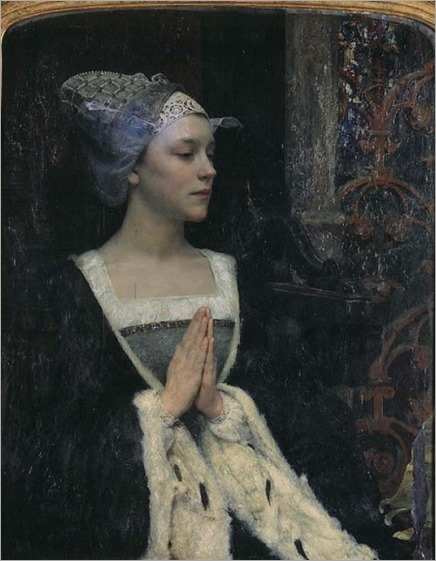 Serenite -1912- Edgar Maxence (french painter)-symbolism