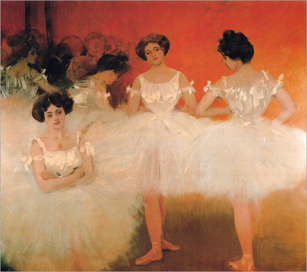 The corps de ballet, Cercle del Liceu, Barcelona (1901-1902). Ramon Casas i Carbó (Spanish, 1866-1932)