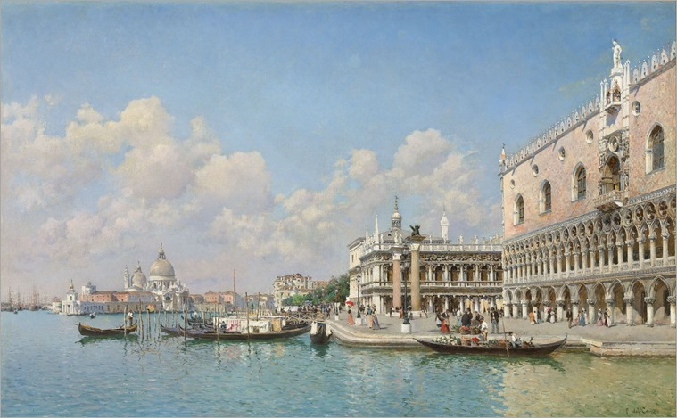 The Grand Canal, Venice - Federico del Campo (peruvian painter)