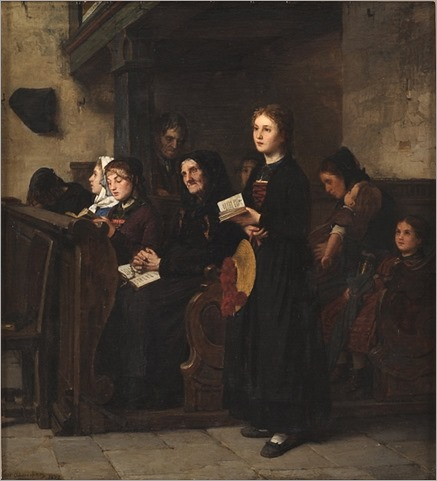 the sunday mass-Hugo Oehmichen - 1872