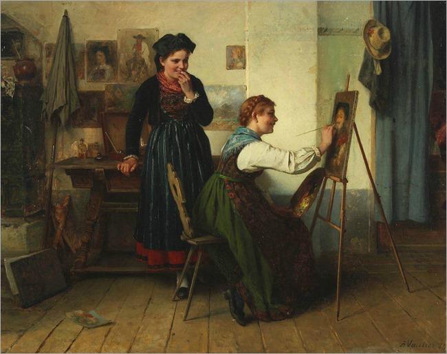 8.Benjamin Vautier (swiss, 1829-1898)