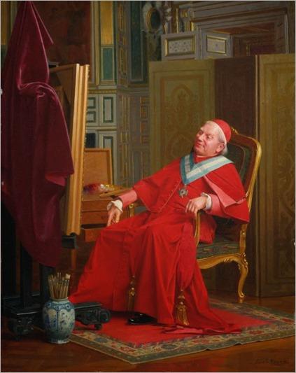 A painting cardinal_ Émile Meyer