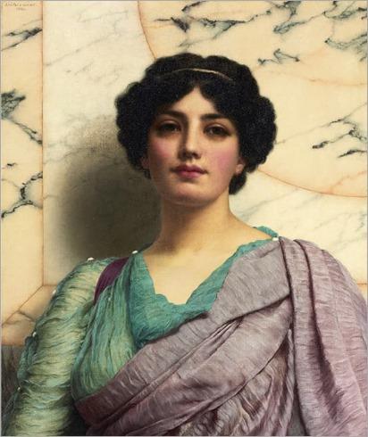 a-roman-beauty-by-John-William-Godward